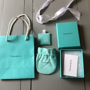 Tiffany & Co. jewelry box and bag